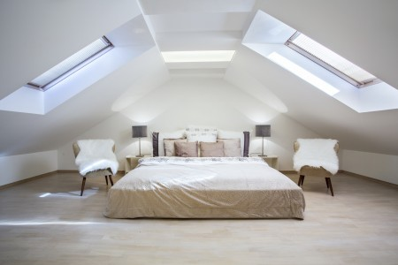 Loft conversion with Velux windows